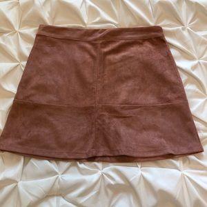 Light Pink Suede Skirt